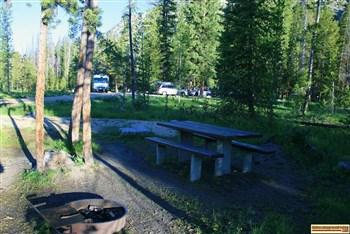 A picture of a campsite in Alturas Lake Inlet Campground