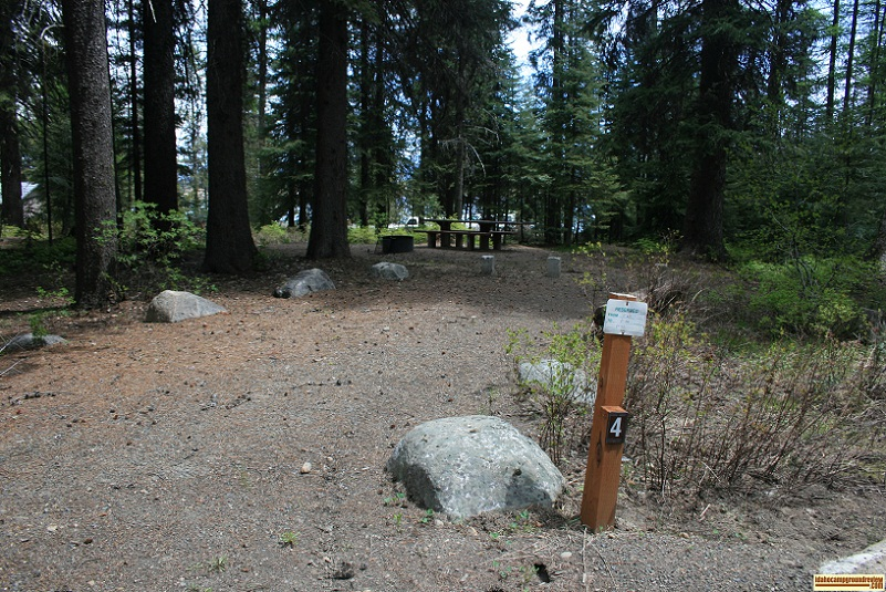 A picture of campsite number 4 in Amanita Campground