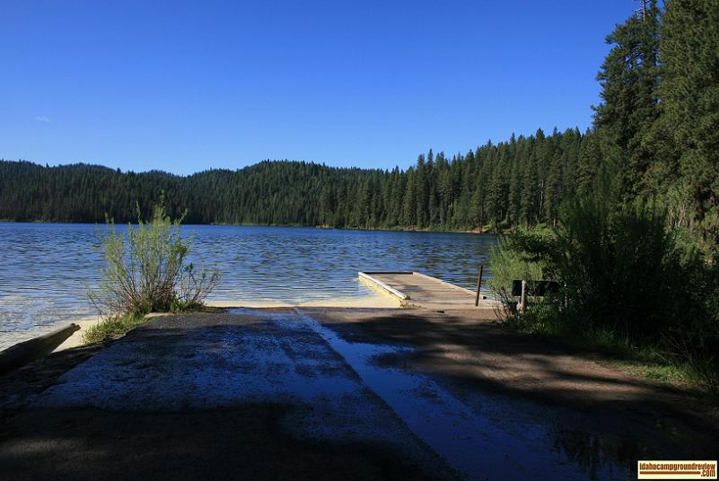 View of the Boat Ramp and Dock at Antelope Campground.