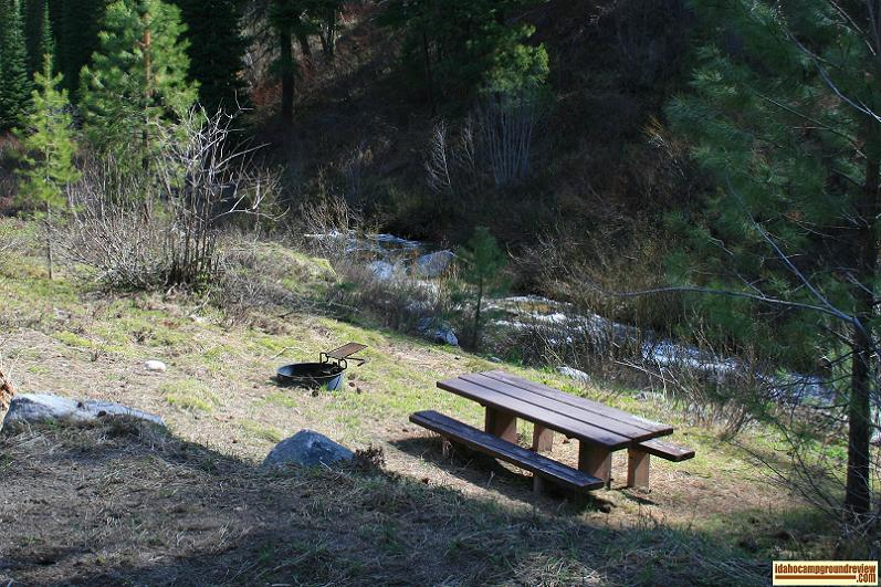 Picnic Area In Bad Bear Campground