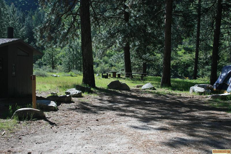 view of badger creek forest camp camping site 3 on  the boise river