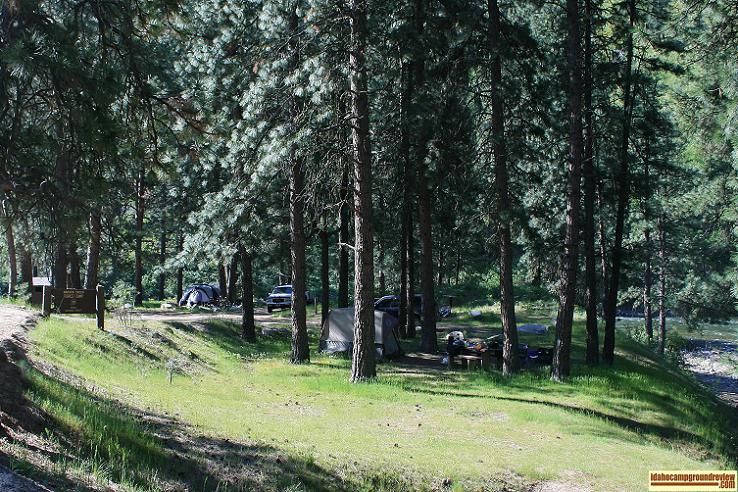 view of badger creek forest camp campground on the boise river