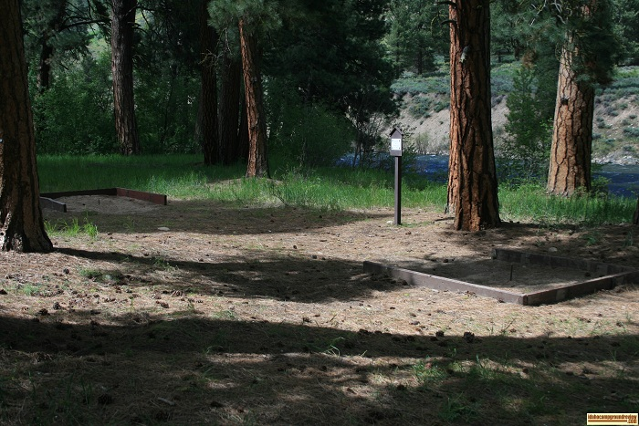 Horseshoe pits at Baumgartner Campground.