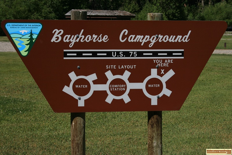 Map of Bayhorse Recreation Site