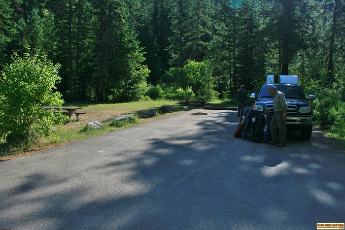 Beauty Creek Campground site 14