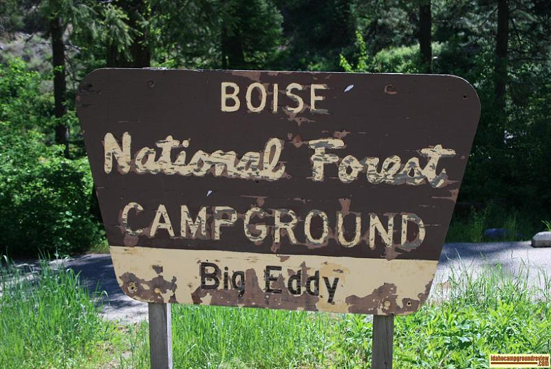 Big Eddy Campground on the payette river near great white water