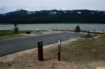This a view of campsite 223 in Big Sage campground.