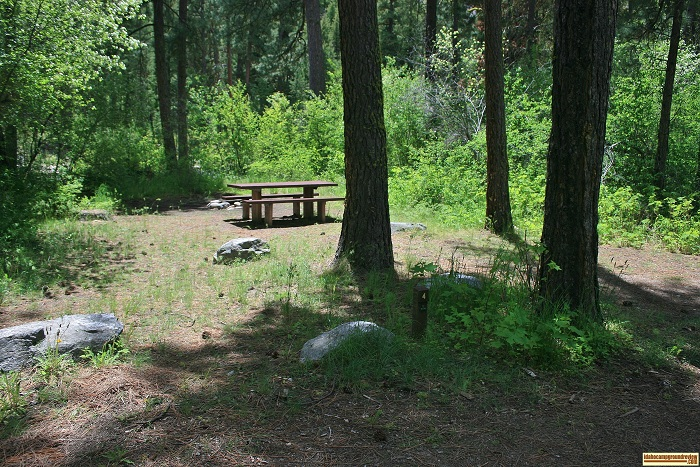 Bird Creek Campground camping, campsite 4.
