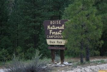 black rock campground sign