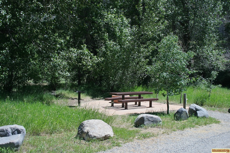Here's another RV camping site in Boundary Campground just outside of Ketchum, Idaho.