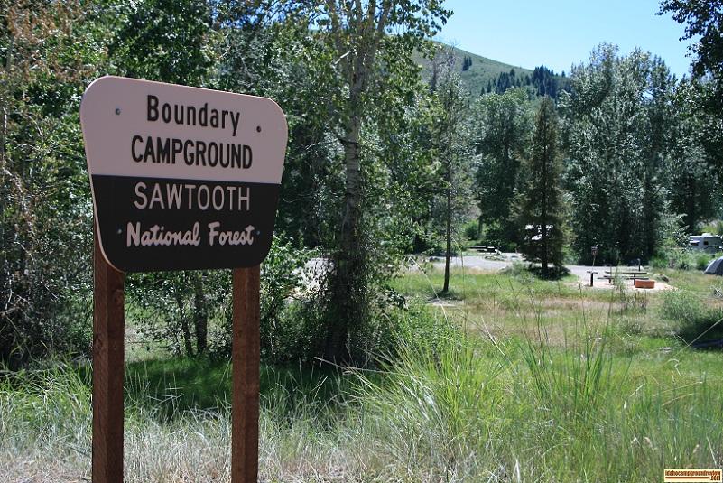 This is a veiw of the entrance to Boundary Campground just outside of Ketchum, Idaho.