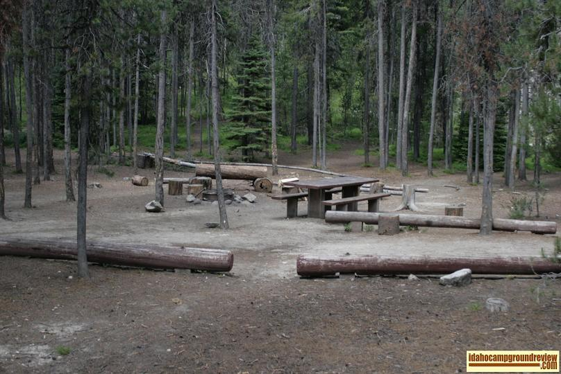 Boundary Creek Campground tent /rv camping site