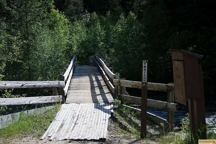This picture is of the bridge that trail 91 uses to cross Big Smokey Creek.