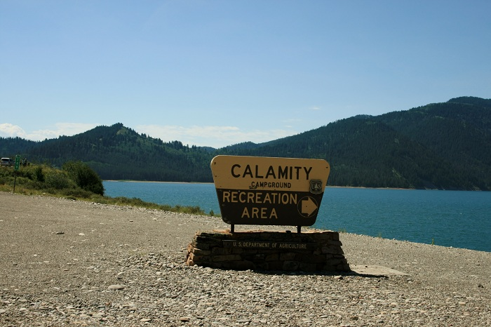 Calamity Campground on Palisades Reservoir.