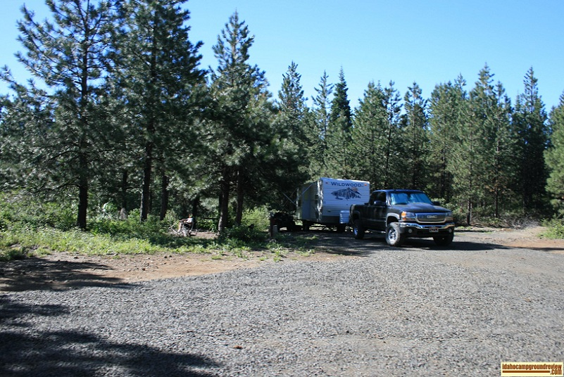 RV camp site number one in cartwright Ridge Campground