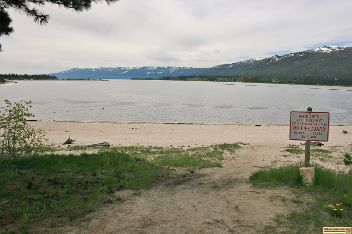 The swimming beach at Boulder Creek Day Use area.