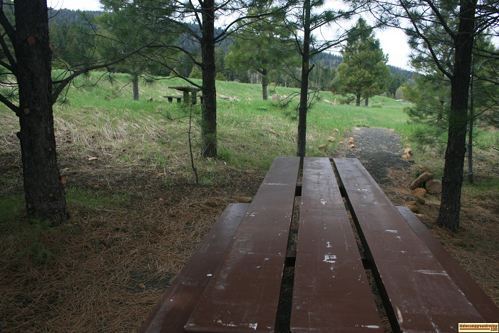 Campbell Creek Boating Access has a couple picnic tables available.