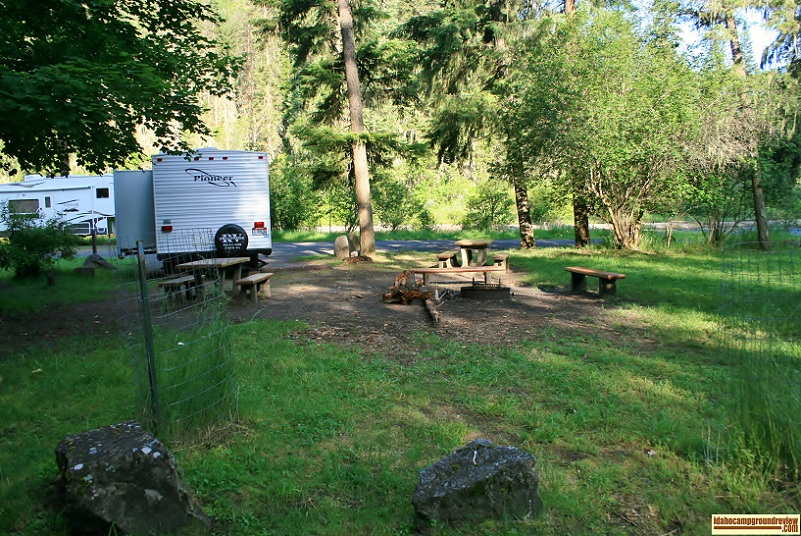 Castle Creek Campground on the West Fork of the Clearwater River.