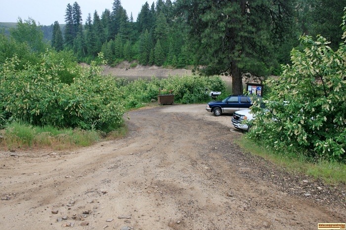 This is the entrance to Castle Creek Campground on Anderson Ranch Reservoir.