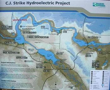 Fishing C J Strike Reservoir In ID - Map, Fish Species ...
