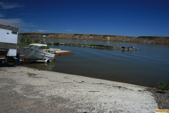 the boat ramp and dock at Cottonwood Park on CJ  Strike Reservoir.