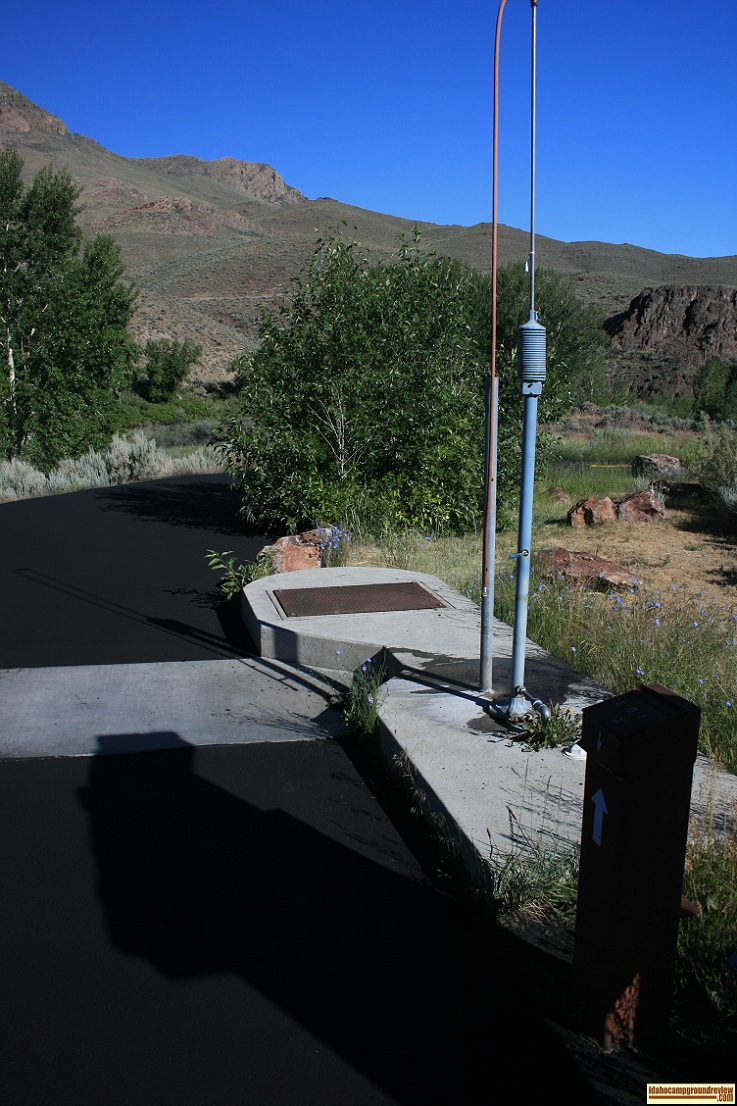 RV Dump station at Cottonwood Recreation Site north of Challis, Idaho.