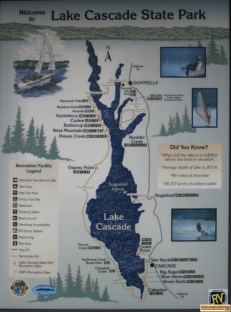 Information sign in Crown Point Campground.