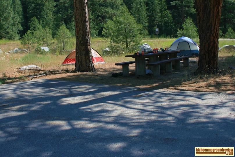 Typical camp site in Deadwood Campground