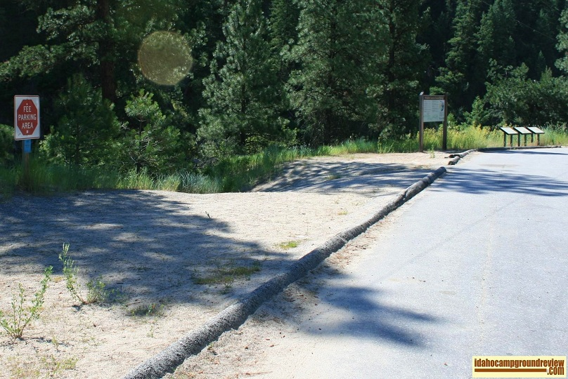Rafting input parking area at Deadwood Campground