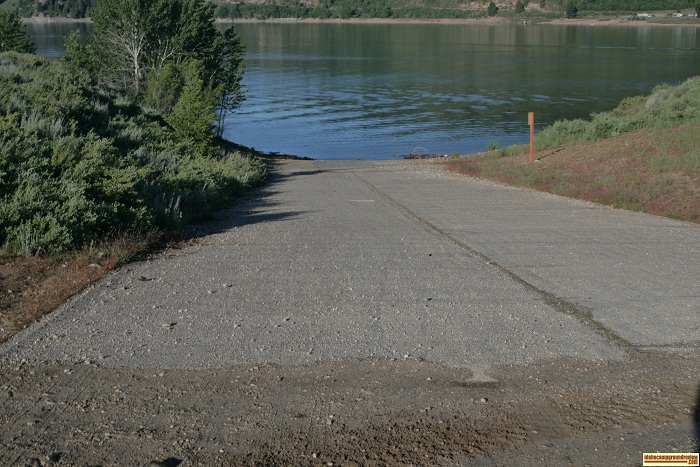 Deer Creek Recreation Site boat ramp, for those who love camping in Idaho.