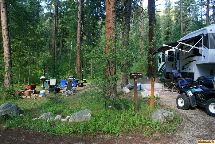The hosts site at Dog Creek Campground.