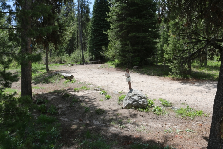 Campsite one in Edna Creek Campground