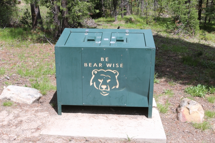 Bear wise trash cans
