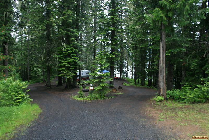 Typical camp site in Spur Road Campground.