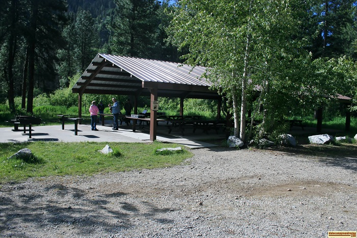 Elks Flat Campground Review, shelter