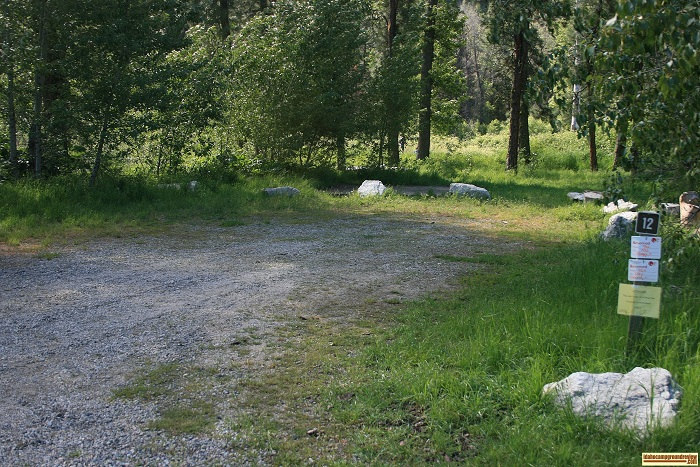 Elks Flat Campground Review, campsite 12
