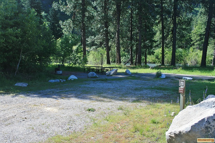 Elks Flat Campground Review, campsite 20