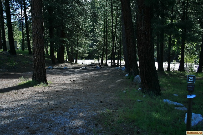 Elks Flat Campground Review, campsite 25
