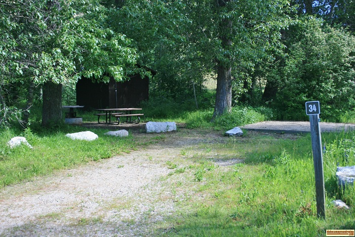 Elks Flat Campground Review, campsite 34