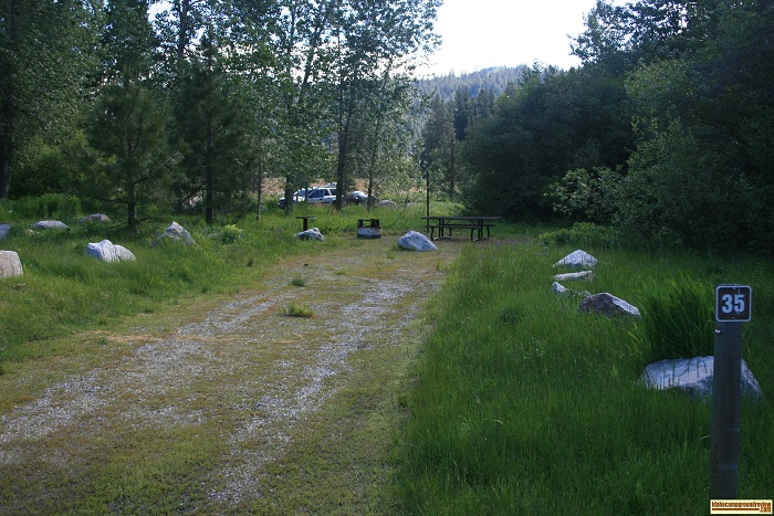 Elks Flat Campground Review, campsite 35