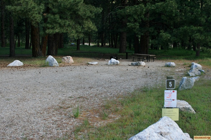 Elks Flat Campground Review, campsite 5
