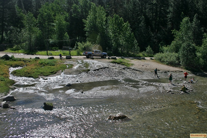 Elks Flat Campground Review, hotspring