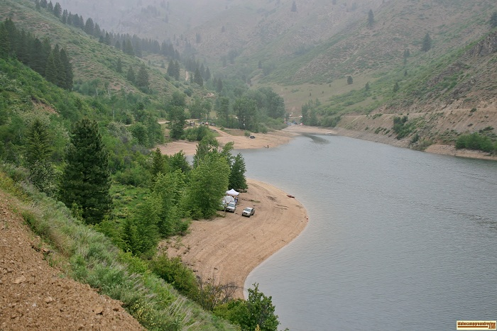 Evans Creek Campground on Anderson Ranch Reservoir. For all of you who love camping in Idaho.