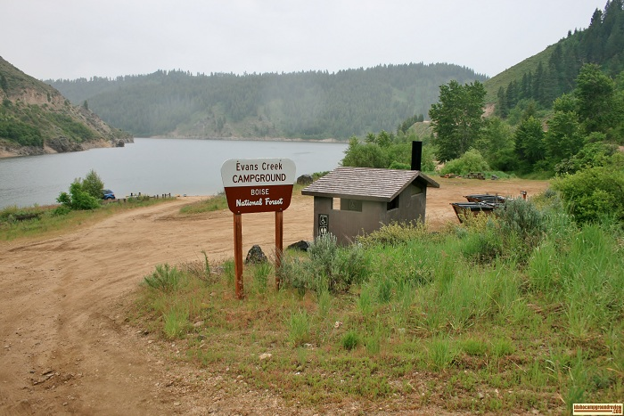 This is the entrance to Evans Creek Campground on Anderson Ranch Reservoir north of Twin Falls. For all of you who love camping in Idaho.