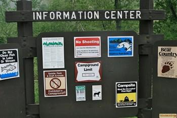Wolf info posted at Evans Creek Campground on Anderson Ranch Reservoir. For all of you who love camping in Idaho.