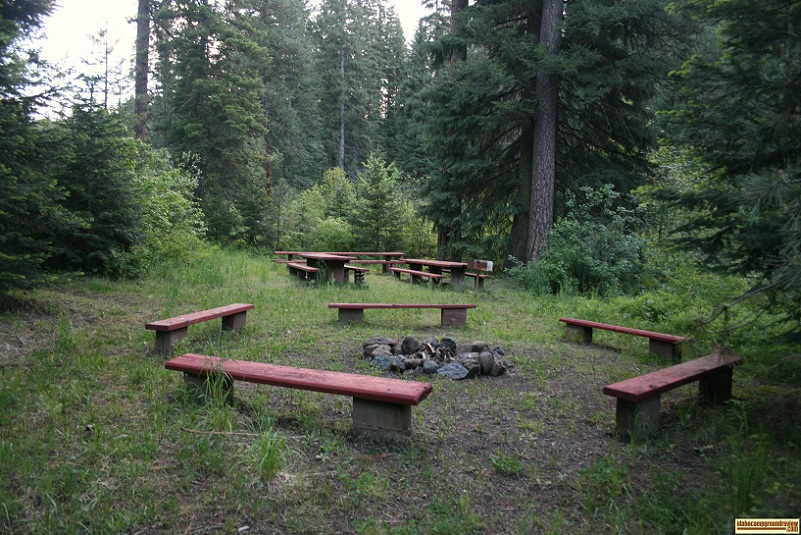 Evergreen campgound has a very nice picnic area.