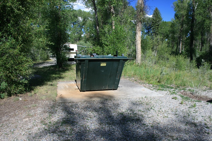 There are 2 bear resistant dumpsters.