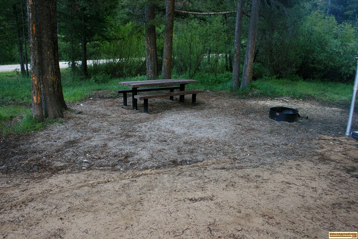 A campsite in Five Points Campground.