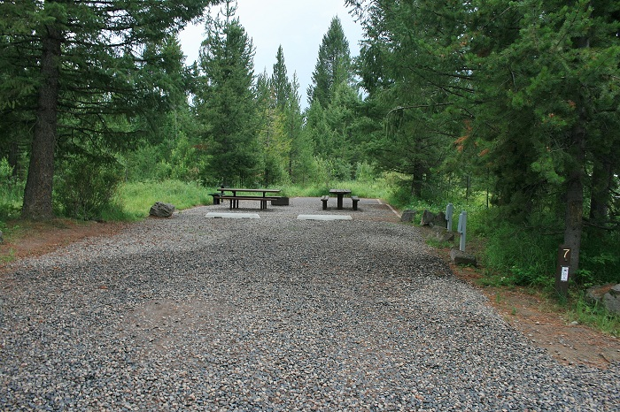 Grandview Campground near Lower Mesa Falls.