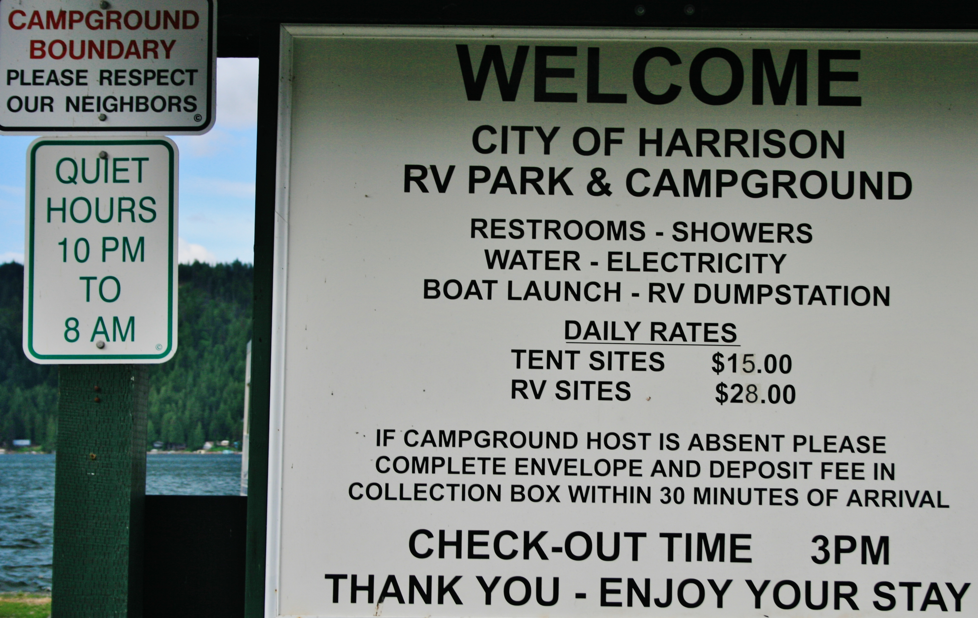 Harrison RV park and Marina on Coeur d'Alene.